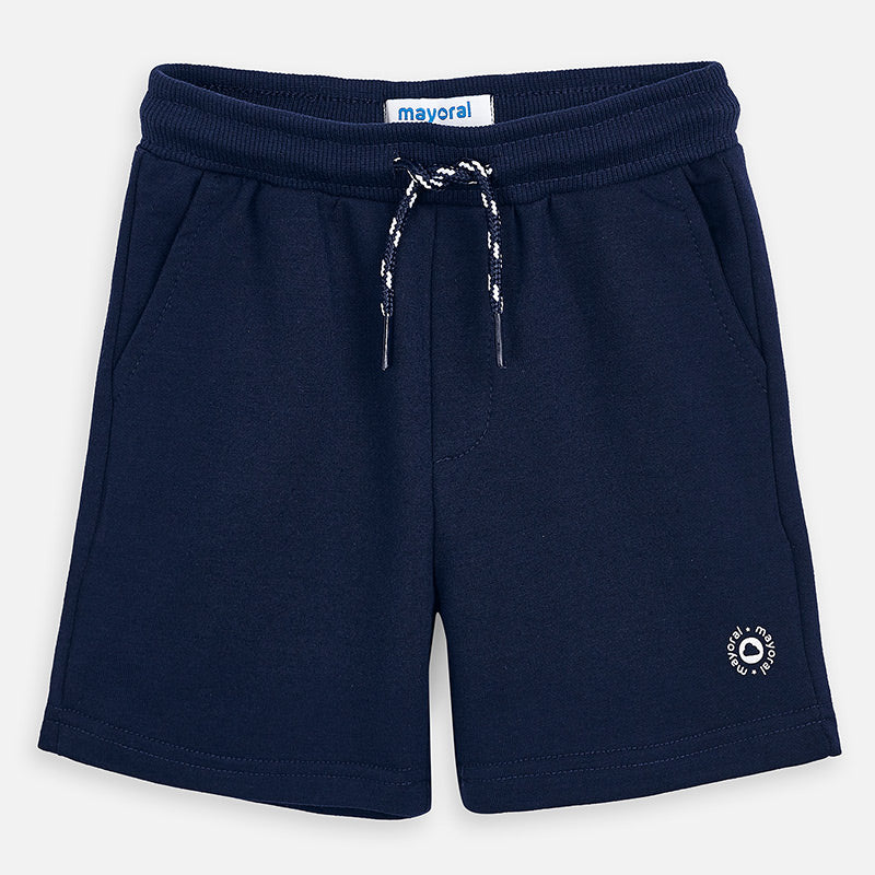 Mayoral Boy SS20 Fleece Shorts Navy 611 (4368313778274)
