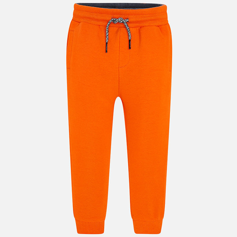 Mayoral Boy SS20 Fleece Joggers Orange 742 (4368312565858)