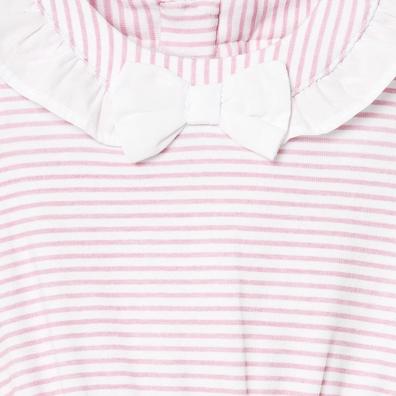 Mayoral Baby Girl SS20 Pink Stripe Babygrow with hat 1671 (4370676842594)