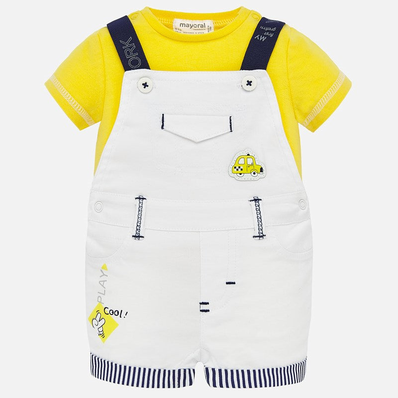 Mayoral Baby Boy SS20 Dungaree and plain t-shirt 1679 (4370682085474)