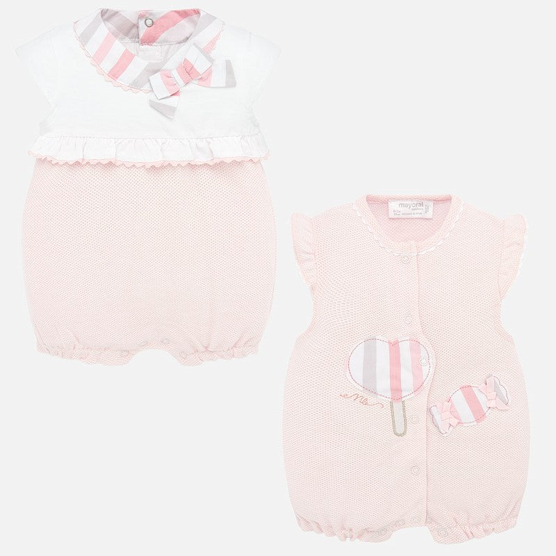 Mayoral Baby Girl SS20 Short romper set with bows 1755 (4370674090082)