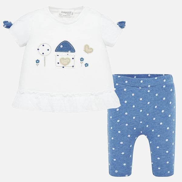 Mayoral Baby Girl SS20 T-shirt and polka dot leggings 1766 (4370675892322)