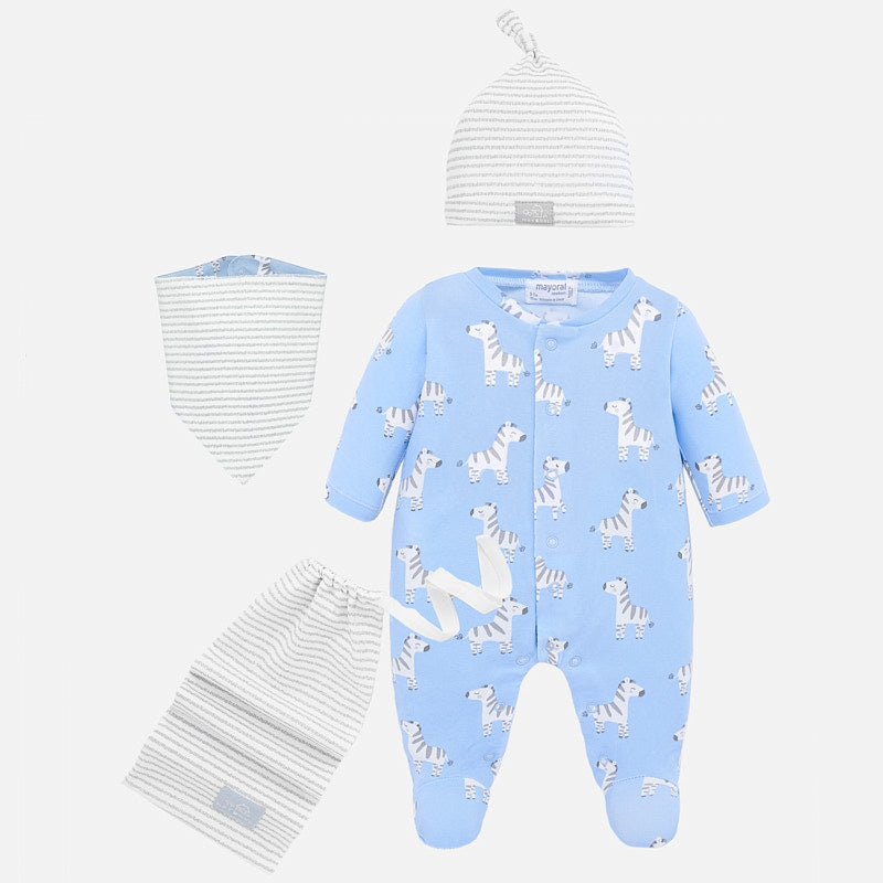 Mayoral Baby Boy SS20 Onesie set with bib, hat and bag 1778 (4370758631522)