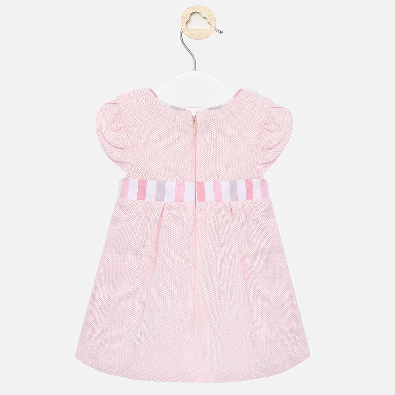 Mayoral Baby Girl SS20 Dress with Bow Design 1860 (4370674483298)