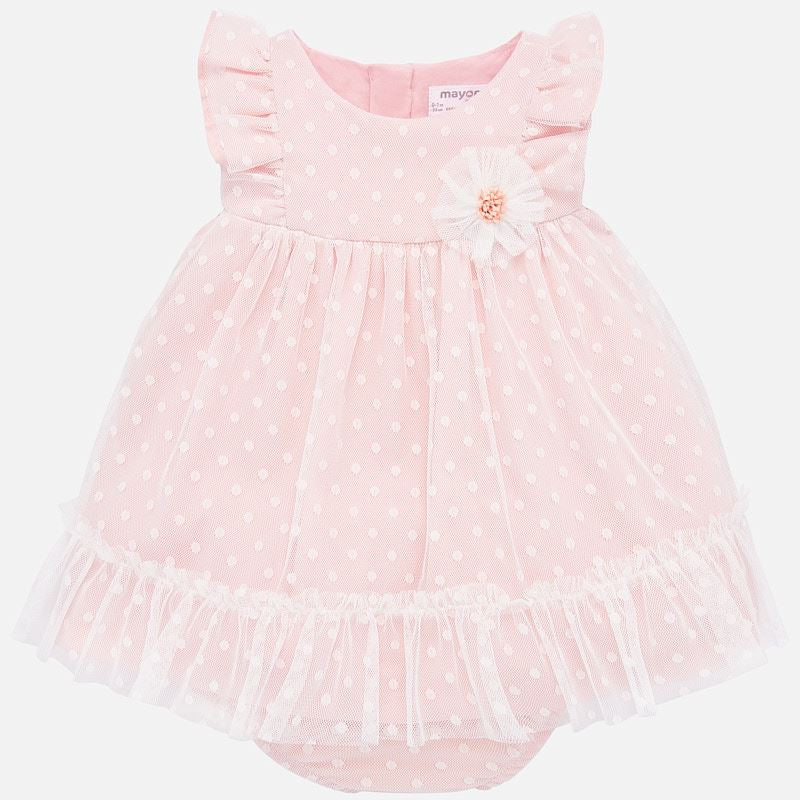 Mayoral Baby Girl SS20 Plumeti tulle dress 1872 (4370677301346)
