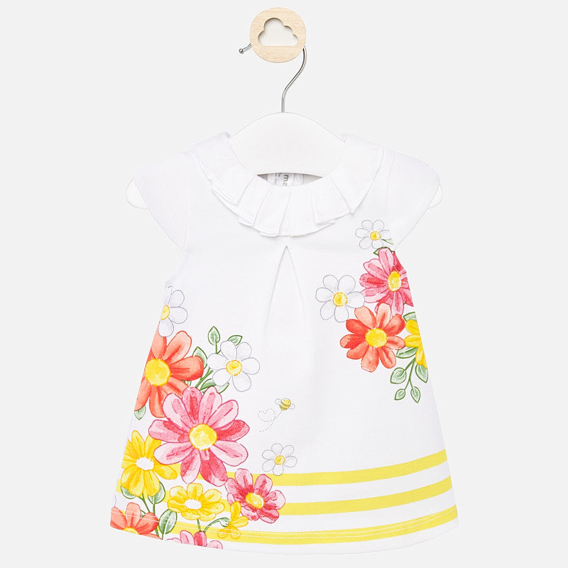Mayoral Baby Girl SS20 Positioned flowers dress 1883 (4370680119394)
