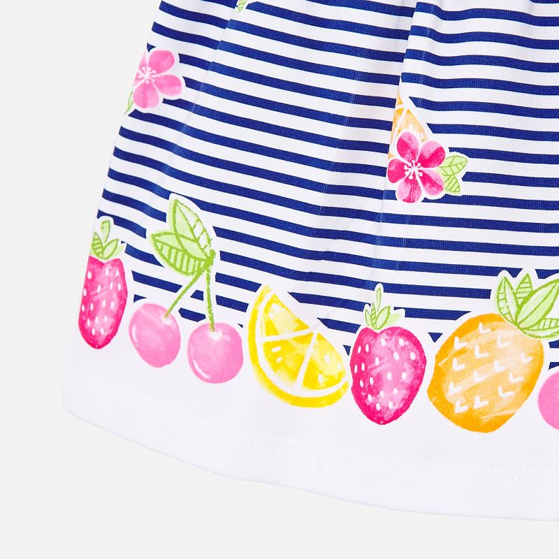 Mayoral Baby Girl SS20 Striped dress with fruit design 1887 (4370678382690)