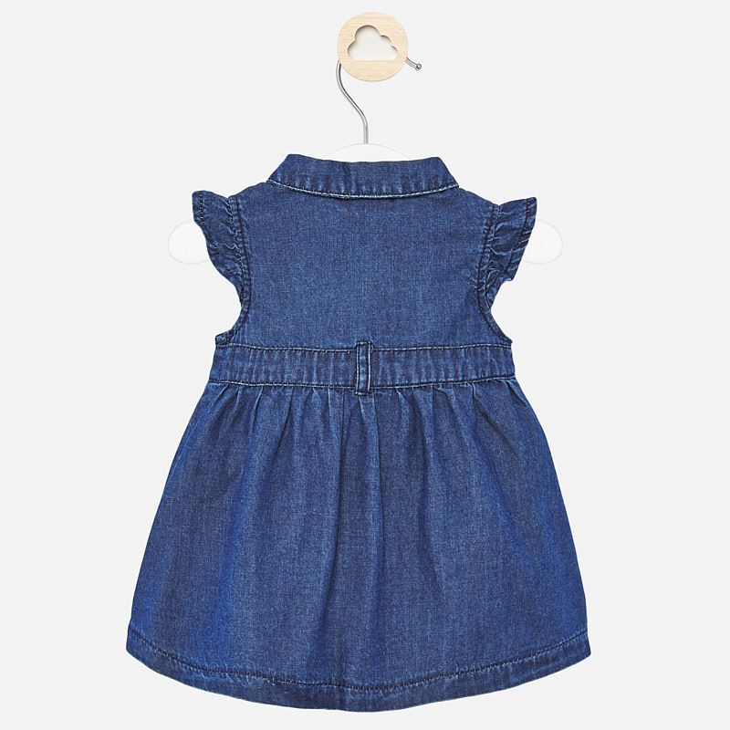 Mayoral Baby Girl SS20 Embroidered denim dress 1888 (4370680512610)