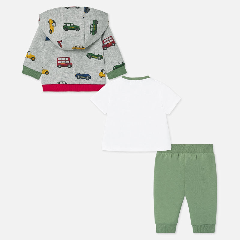 Mayoral Baby Boy SS20 3 piece Cars tracksuit 1891 (4370743230562)