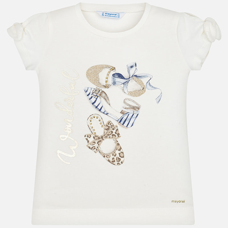 Mayoral Girl SS20 Short sleeved bow print t-shirt 3010 (4355201532002)