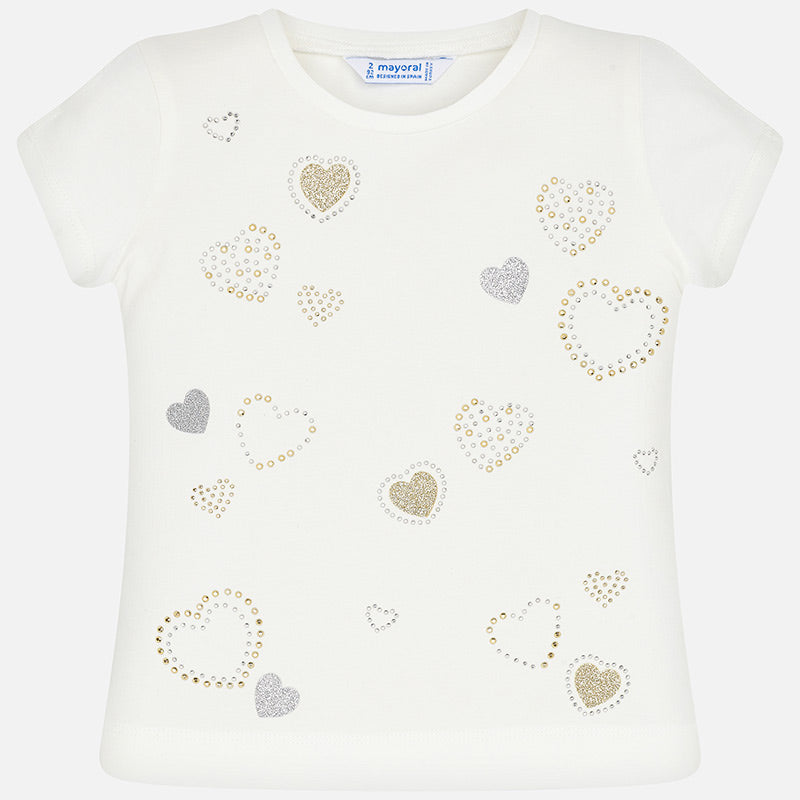 Mayoral Girl SS20 Hearts T-Shirt 3012 (4360576893026)