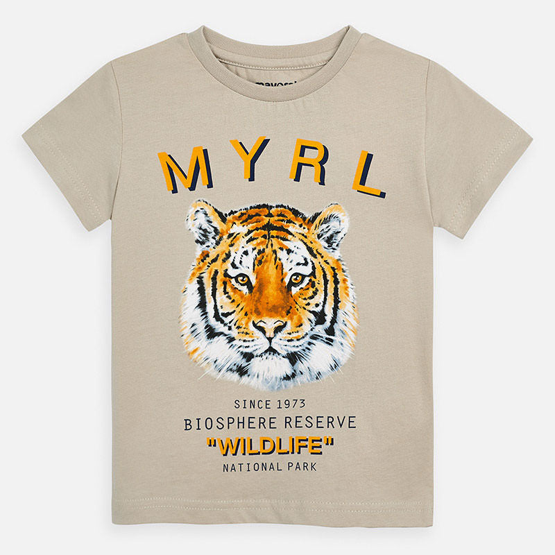 Mayoral Boy SS20 Short sleeved tiger print t-shirt 3052 (4368321904738)