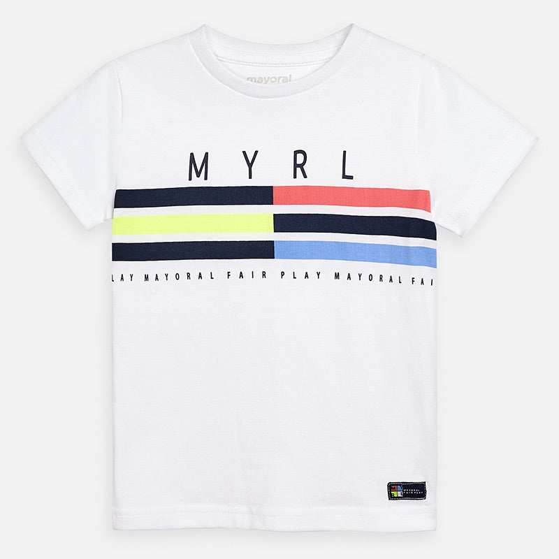 Mayoral Boy SS20 Short sleeved t-shirt with stripes 3053 (4368492724322)