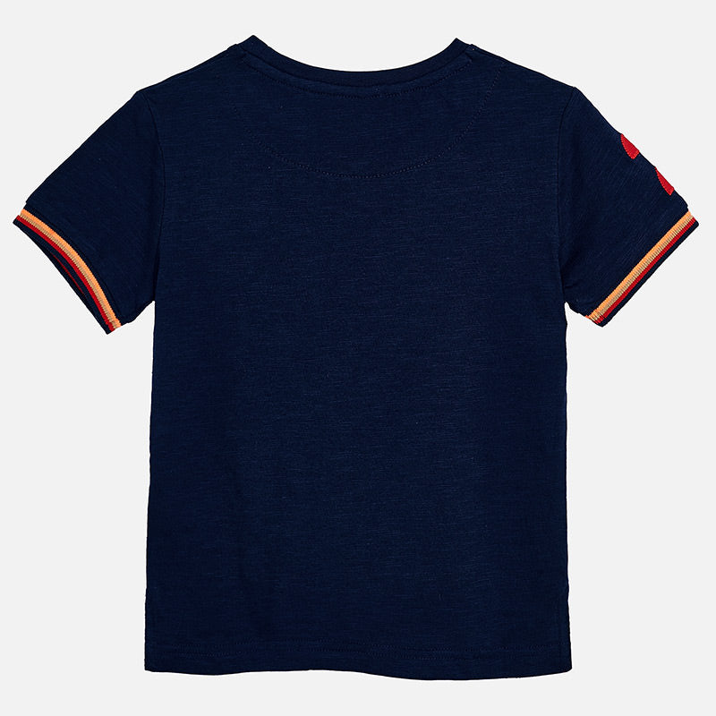 Mayoral Boy SS20 Navy Short sleeved t-shirt with pocket 3058 (4368316137570)
