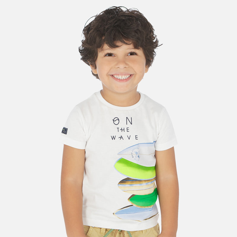 Mayoral Boy SS20 Short sleeved surfboard print t-shirt 3067 (4368314302562)