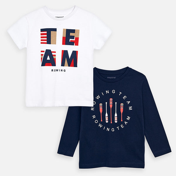 Mayoral Boy SS20 Set of two T-shirts 3076 (4368315154530)