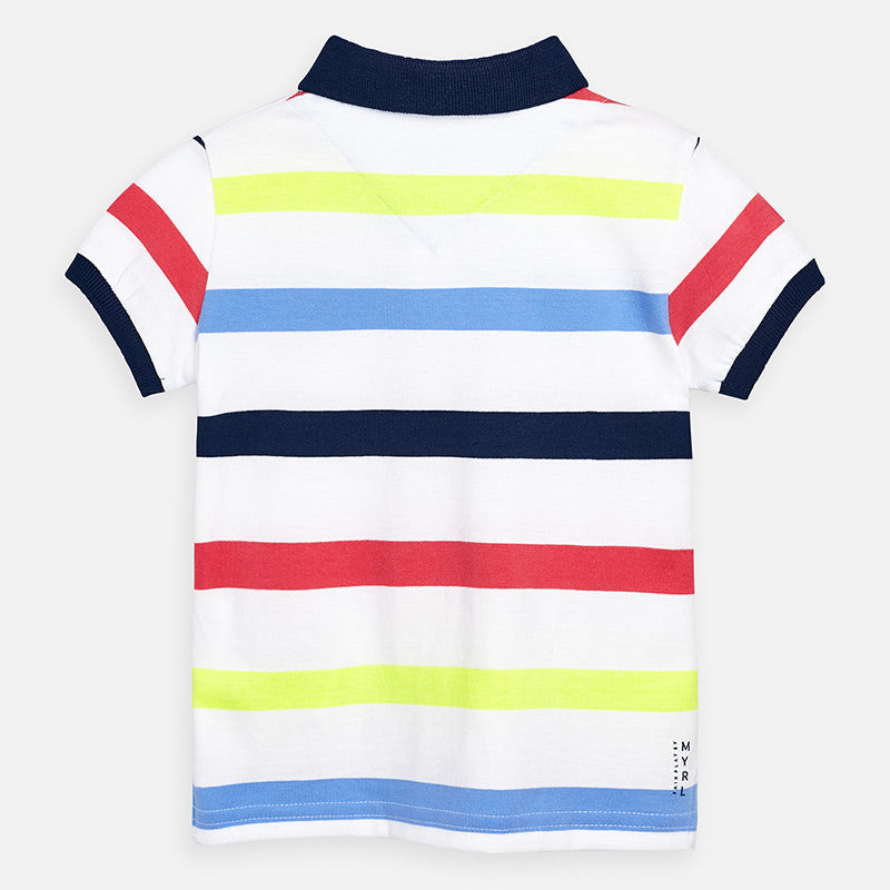 Mayoral Boy SS20 Short sleeved block stripe polo shirt 3148 (4368495018082)
