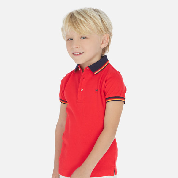 Mayoral Boy SS20 Short sleeved polo shirt Red 3150 (4368314531938)