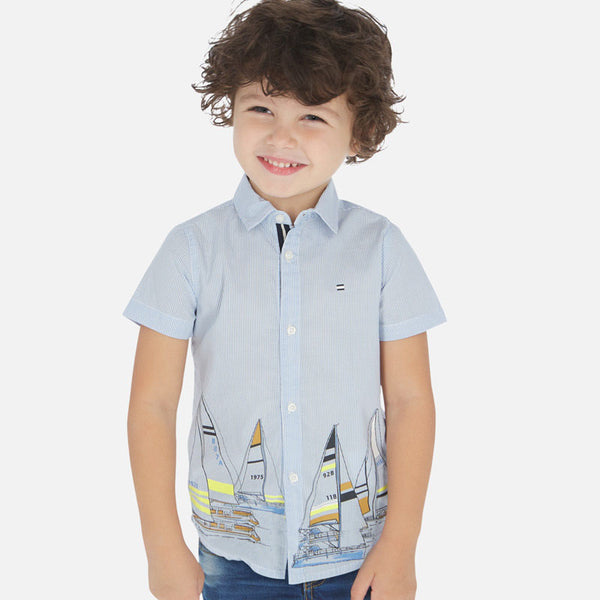 Mayoral Boy SS20 Short sleeved shirt with Boat design 3165 (4368439115874)
