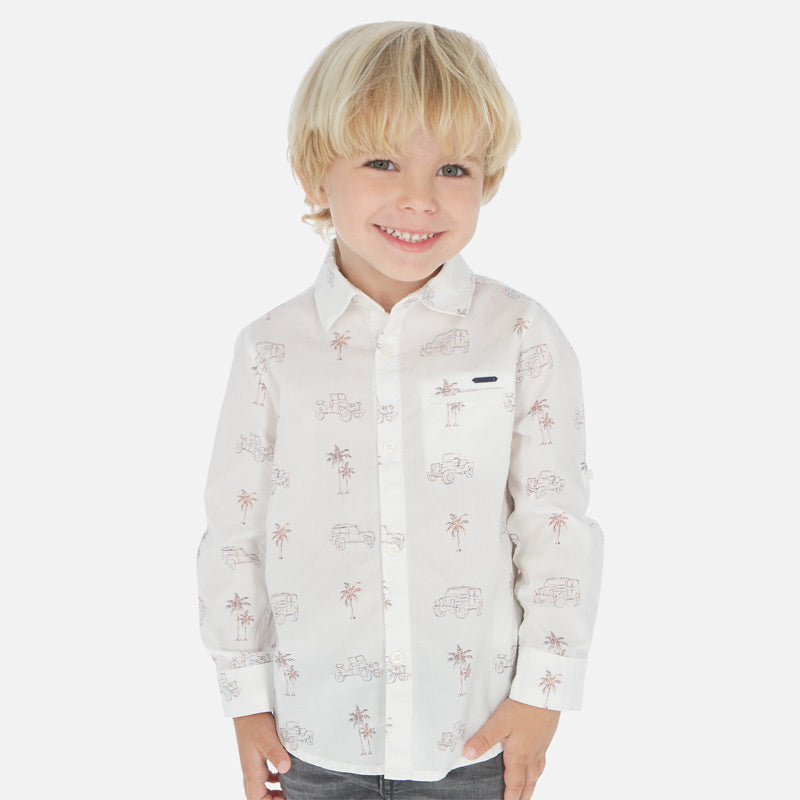 Mayoral Boy SS20 Long sleeved patterned shirt 3175 (4368322723938)