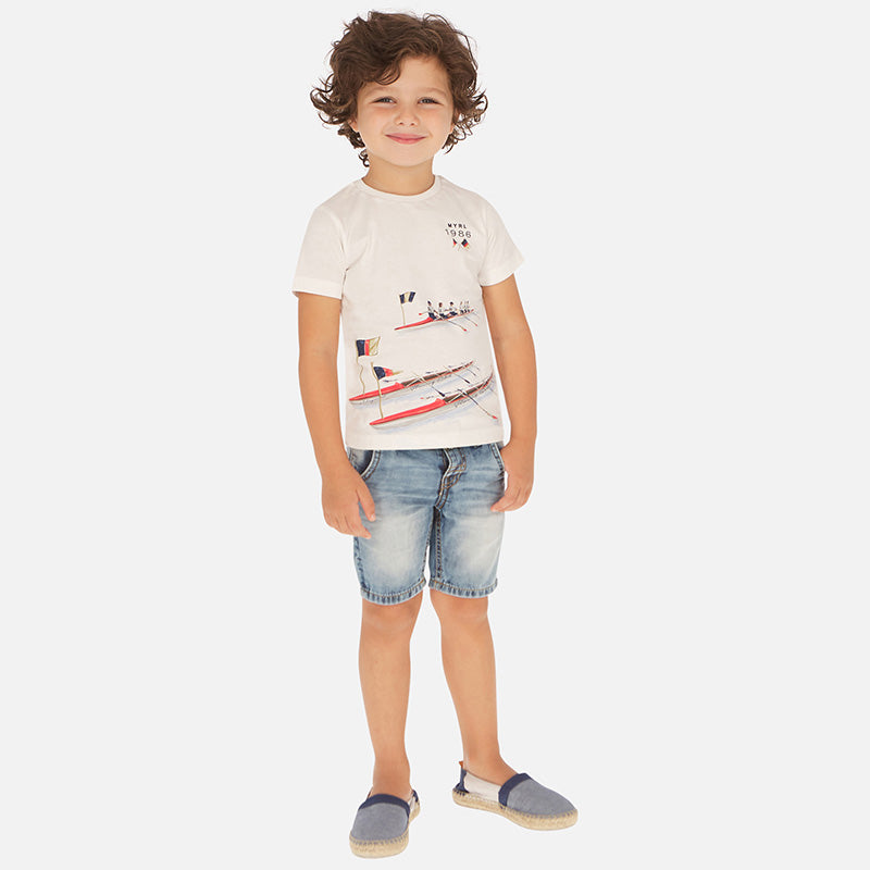 Mayoral Boy SS20 Denim bermuda shorts with belt 3260 (4368320725090)