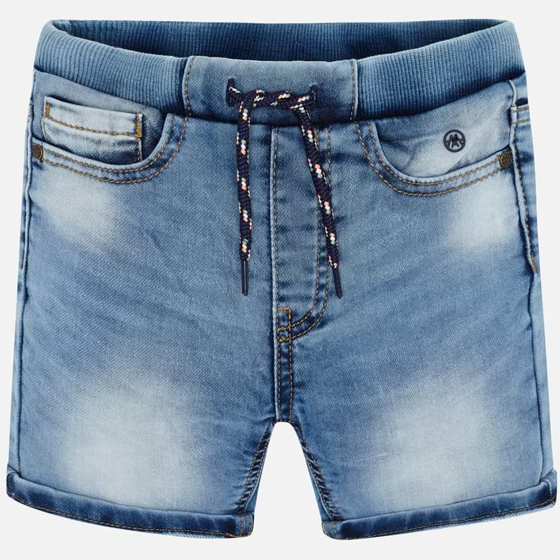 Mayoral Boy SS20 Denim jogger shorts 3268 (4368457891938)