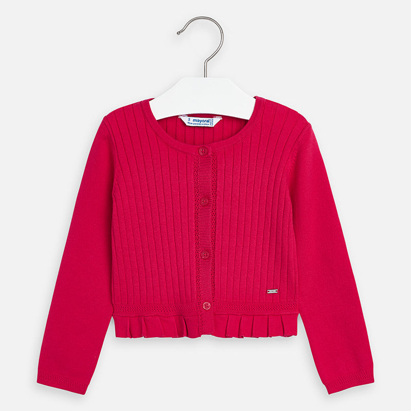 Mayoral Girl SS20 Pink Cardigan 3320 (4360571813986)