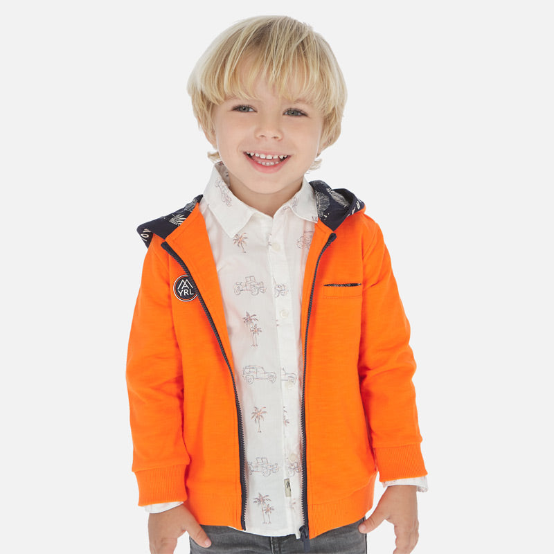 Mayoral Boy SS20 Hooded sweatshirt with appliques 3448 (4368323870818)