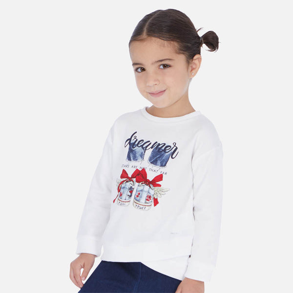 Mayoral Girl SS20 White Sweatshirt with Sneaker design 3461 (4353819836514)