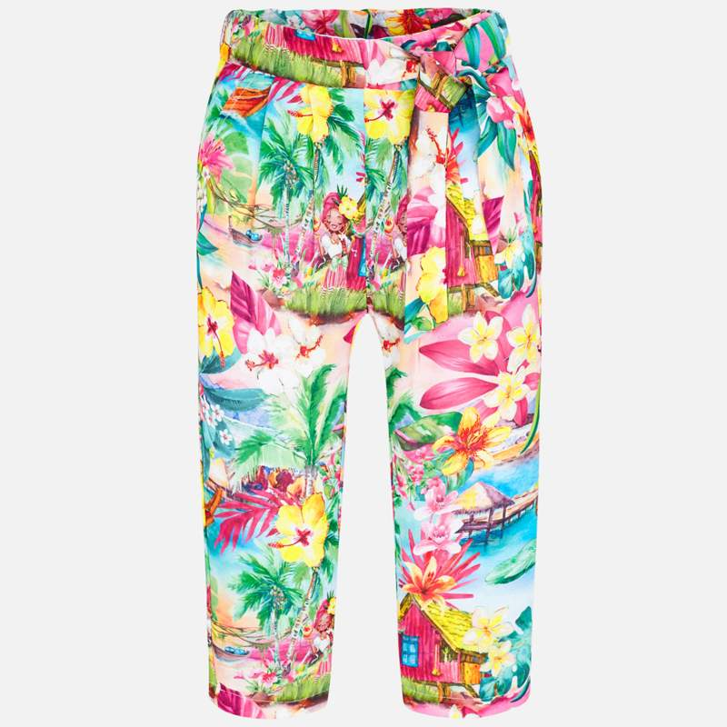 Mayoral Girl SS20 Hawaiian Printed Trousers 3544 (4355203694690)