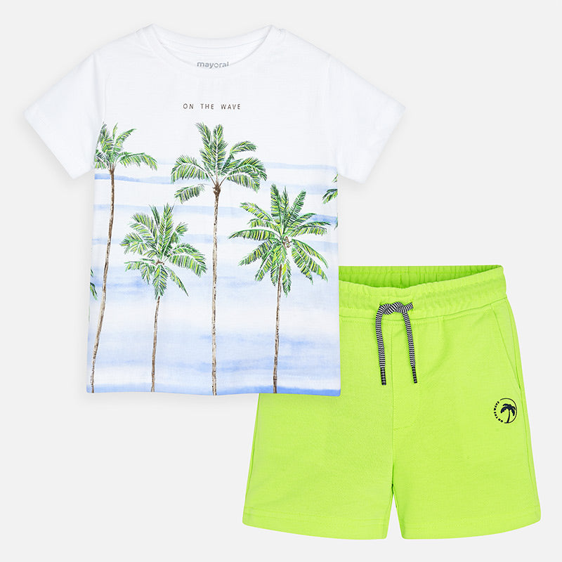 Mayoral Boy SS20 Neon Green Short Set 3621 (4368428531810)