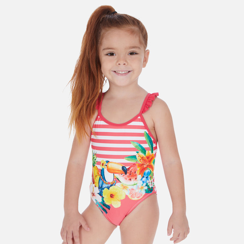 Mayoral Girl SS20 Striped Tucan swimsuit 3729 (4360553463906)