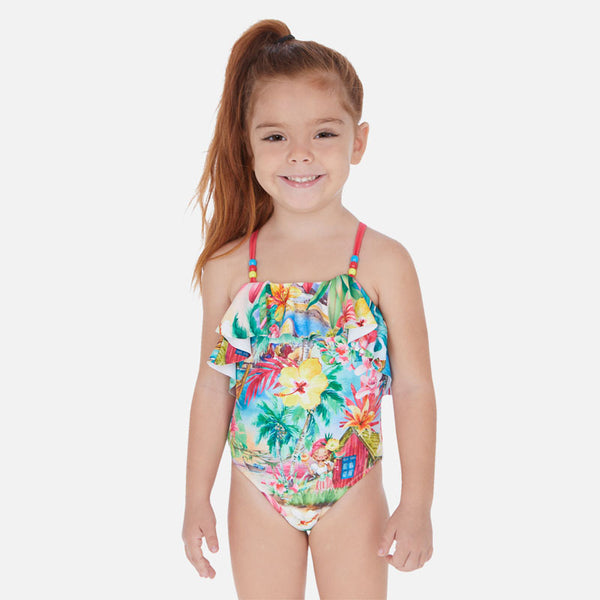 Mayoral Girl SS20 Tropical Swimsuit 3730