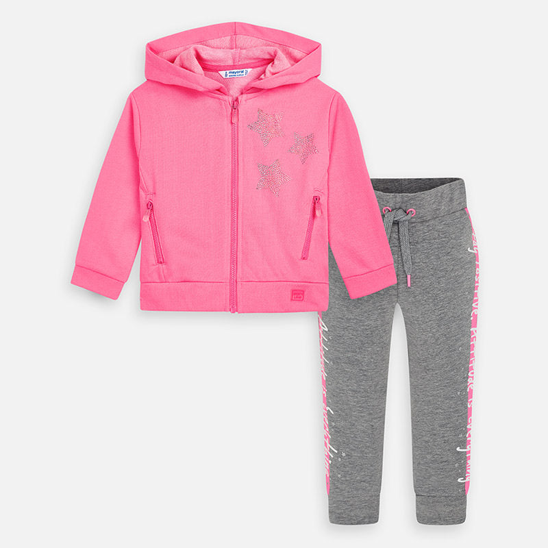 Mayoral Girl SS20 Pink Stars Tracksuit 3820 (4360562901090)