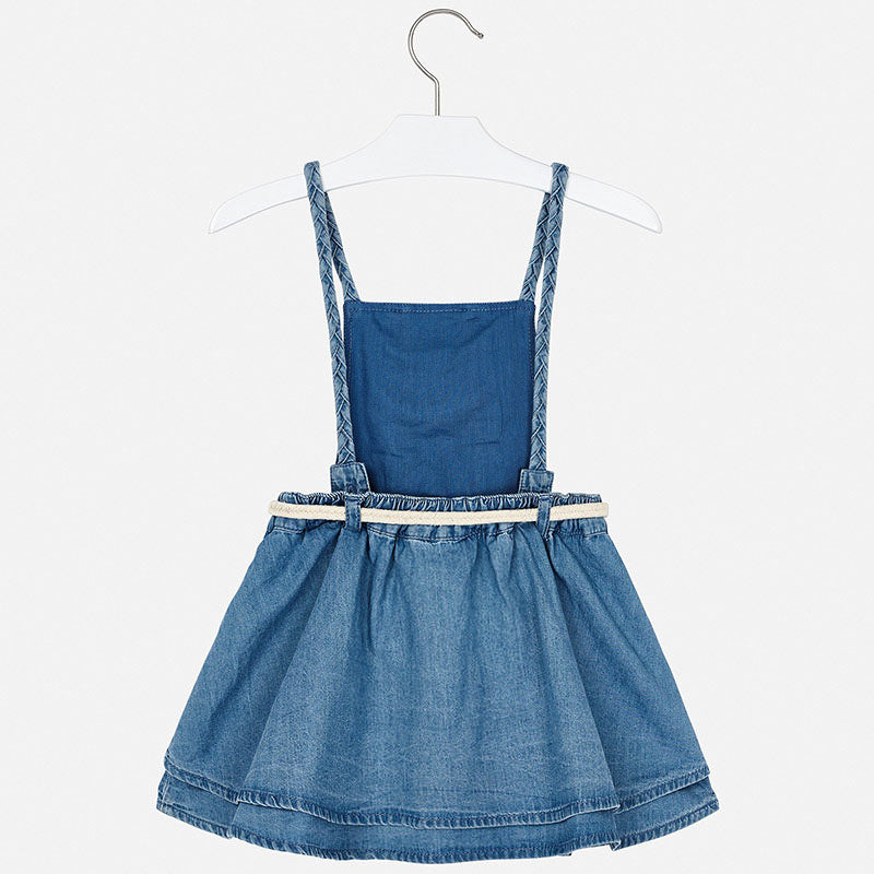 Mayoral Girl SS20 Denim Pinafore Dress 3910 (4355205398626)