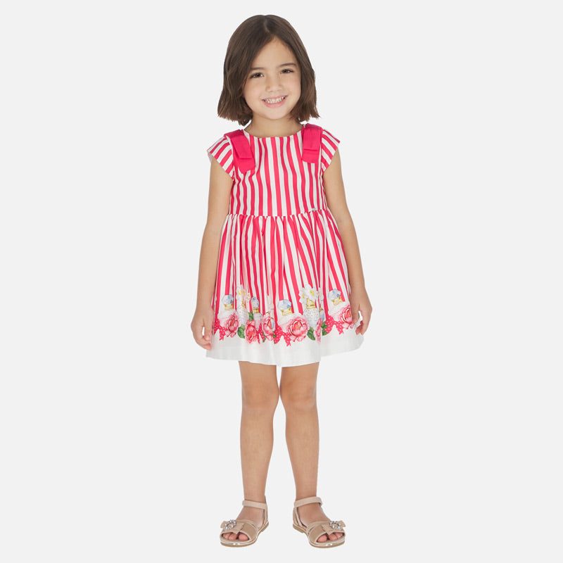 Mayoral Girl SS20 Strawberry Striped Perfume Bottle Dress 3929 (4353820590178)