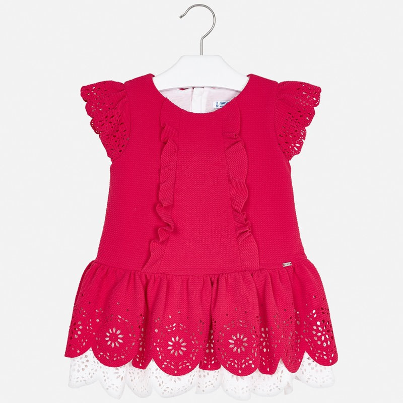 Mayoral Girl SS20 Strawberry Dress with openwork detailing 3931 (4353821147234)