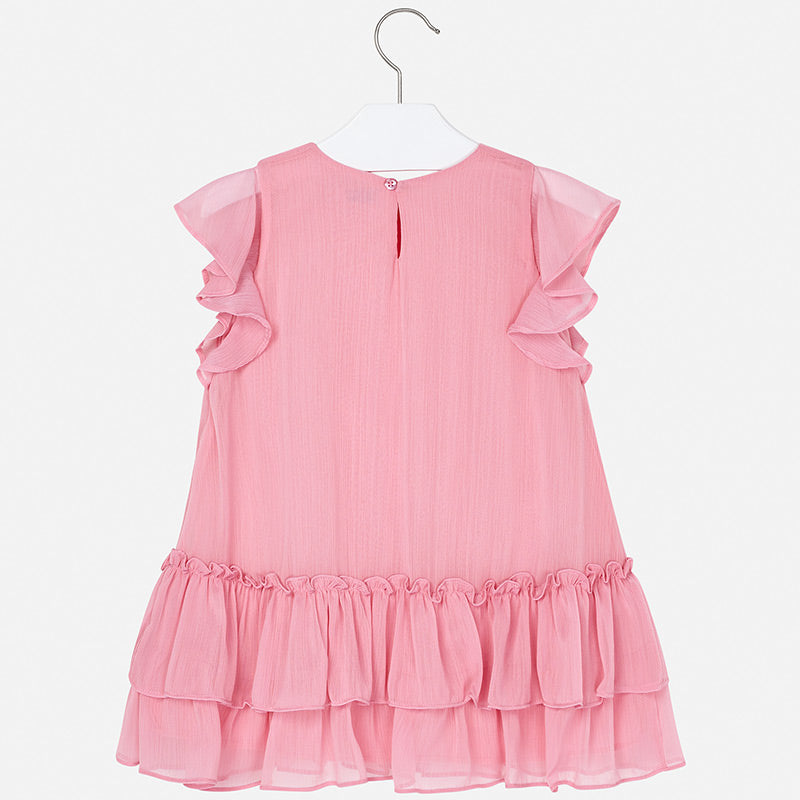 Mayoral Girl SS20 Watermelon Ruffled Dress 3957 (4360569716834)