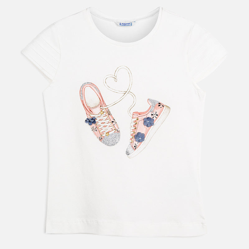 Mayoral Girl SS20 Short sleeved Shoes t-shirt 6016 (4370632736866)