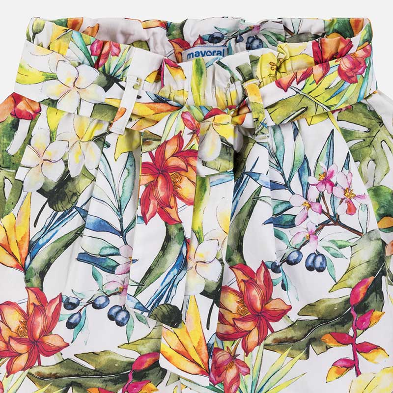 Mayoral Girl SS20 Floral Patterned satin shorts 6254 (4370629853282)