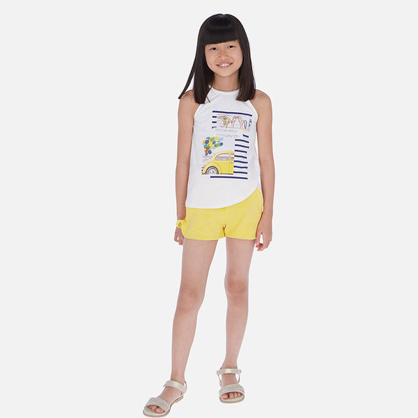Mayoral Girl SS20 Car Top and Shorts Set 6260 (4370527453282)