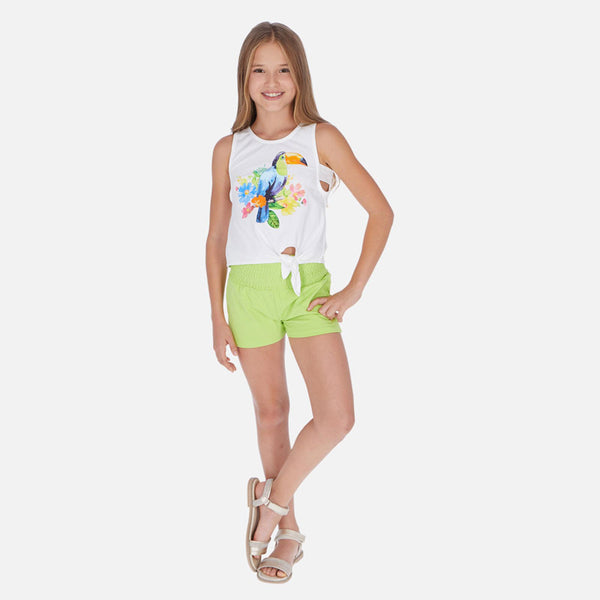 Mayoral Girl SS20 Tuncan Knot t-shirt and shorts set 6265 (4370523193442)
