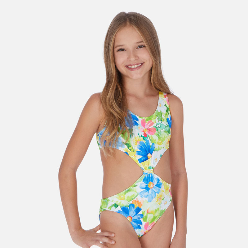 Mayoral Girl SS20 Patterned swimsuit with knot design 6726 (4370522669154)