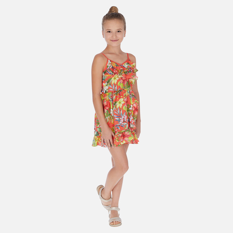 Mayoral Girl SS20 Floral patterned sleeveless dress 6988 (4370629558370)