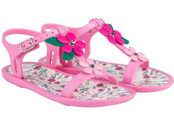 Igor Tricia Floral Jelly Shoes Pink 010 - Bumkins Designer Kids (529518231579)