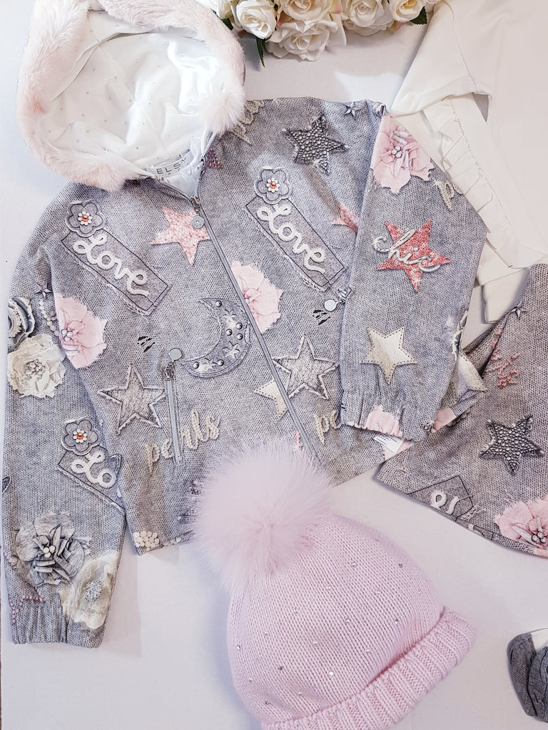 Elsy Rosa Grey Printed Jacket 6521 (1556960510050)