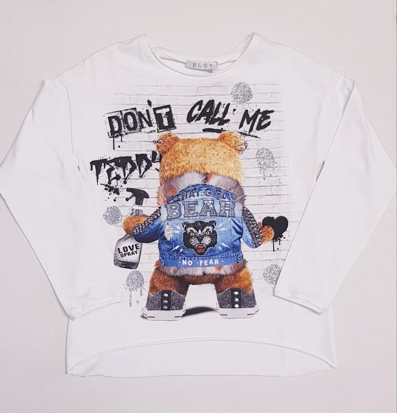 Elsy 'Don't call me Teddy' Long Sleeved Top 4936
