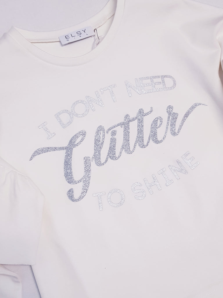 Elsy 'I dont need glitter to shine' Top 4926 (1596951953506)
