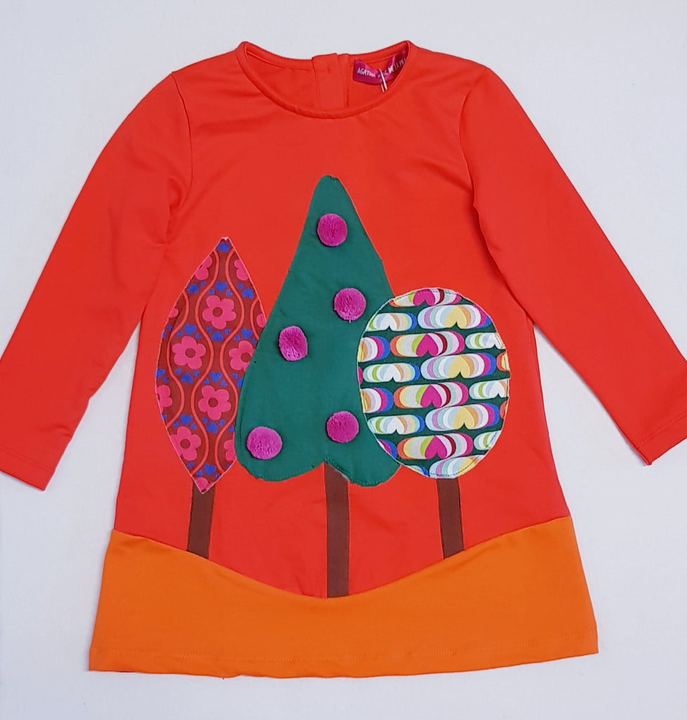Agatha Ruiz De La Prada Laponia Christmas Tree Dress 3083 (1641850634338)