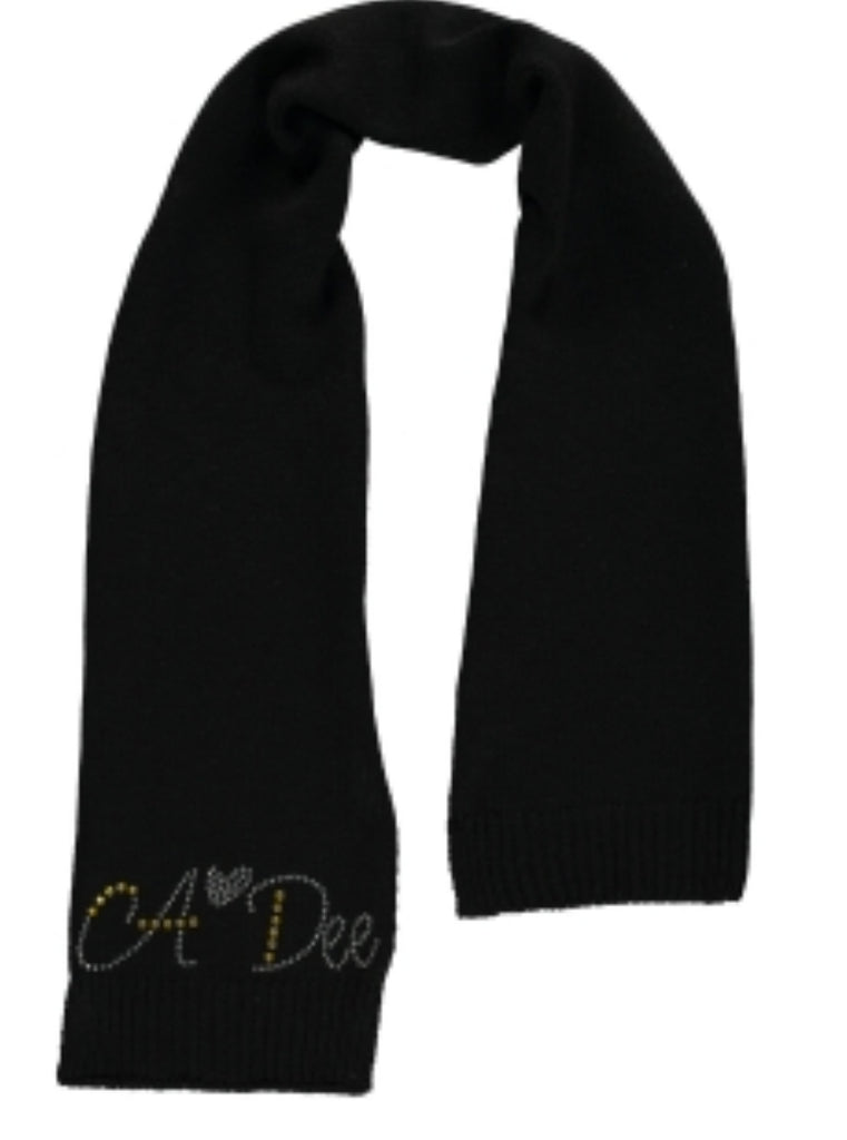 A Dee AW19 Andrea Black Angels Scarf 2912 (2241356333154)